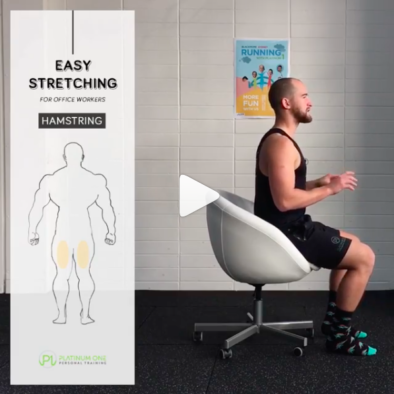 Hamstring stretch for office workers